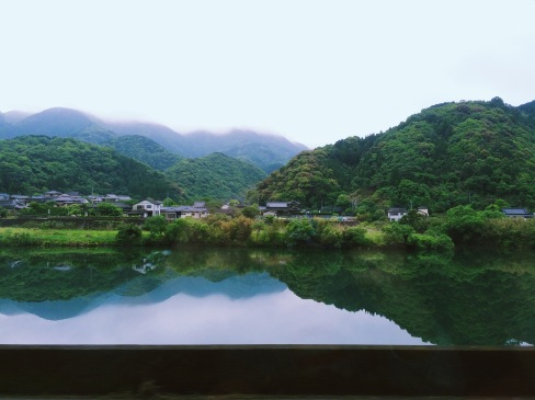 Just one of the many beautiful views you get as you ride through the Japanese countryside