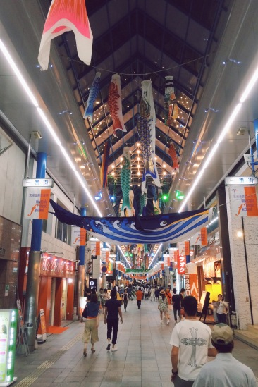 When you see a Japanese city's covered shopping street, you know you're in the city centre